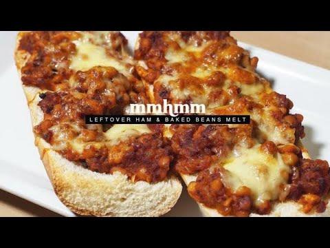 Easy Leftover Ham & Baked Beans Melt | Mmhmm