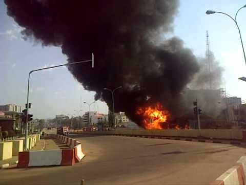 Gasoline Tanker Explodes Opposite NNPC Building Abuja