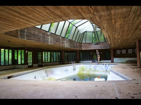 Abandoned Tennis Players Mansion INDOOR POOL & TENNIS COURT
