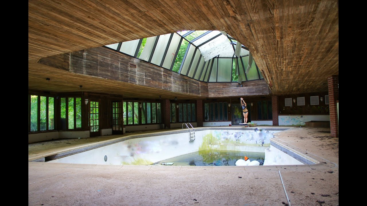 Abandoned Tennis Players Mansion INDOOR POOL & TENNIS ...