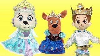Carnaval de juguetes Paw patrol en español y fiesta de disfraces con bebes de la patrulla canina
