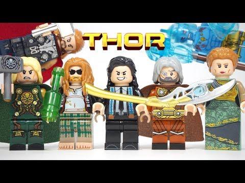 Lego Superhero Avengers Endgame Fat Thor Loki Odin Frigga Laufey Unofficial Lego Minifigures