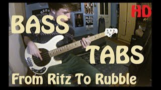 ♦  [TABS !] Arctic Monkeys - From Ritz To Rubble [Bass Cover/Lesson]