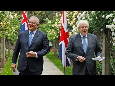 UK and Australia agree a free trade deal - Boris Johnson says it's a 'prelude to further deals'