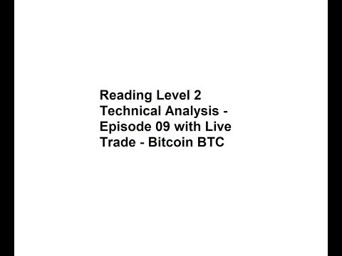 Reading Level 2 Technical Analysis -  Episode 09 With Live Trade - Bitcoin BTC