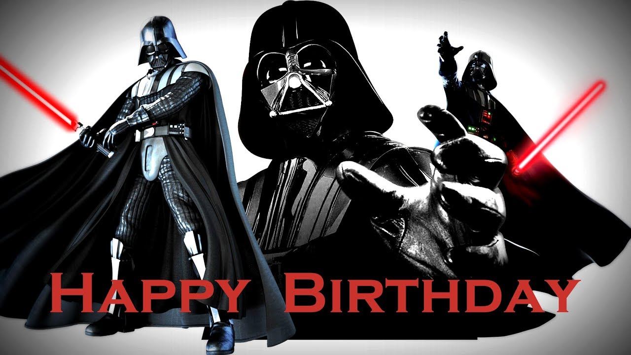 Darth Vader And The Force Wishing You A Happy Birthday Funny Birthday Song Youtube