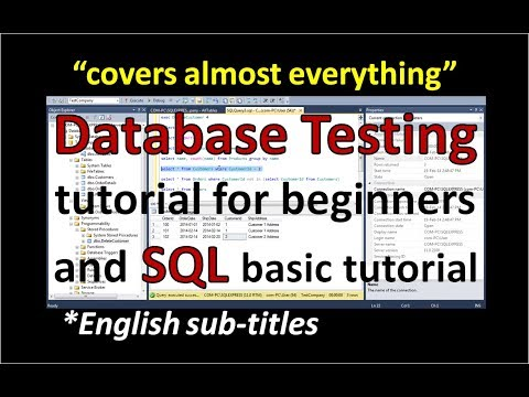 Database Testing and SQL Tutorial for beginners