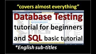 Database Testing in Software Testing | SQL Tutorial for Beginners | Software and Testing Training