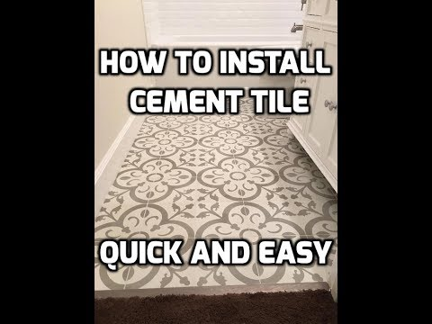How To Install Cement Tile Quick And Easy Youtube