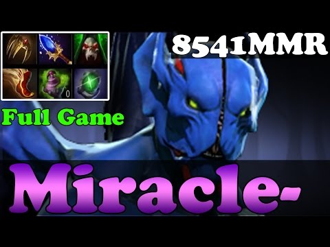 Dota 2 - Miracle- 8541MMR Plays Night Stalker - Full Game - Pub Match Gameplay