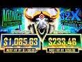 MIDNIGHT STAMPEDE Slot Machine Bonuses Won | Live Slot Play | Nice Session |  (Aristocrat/Gimmie)