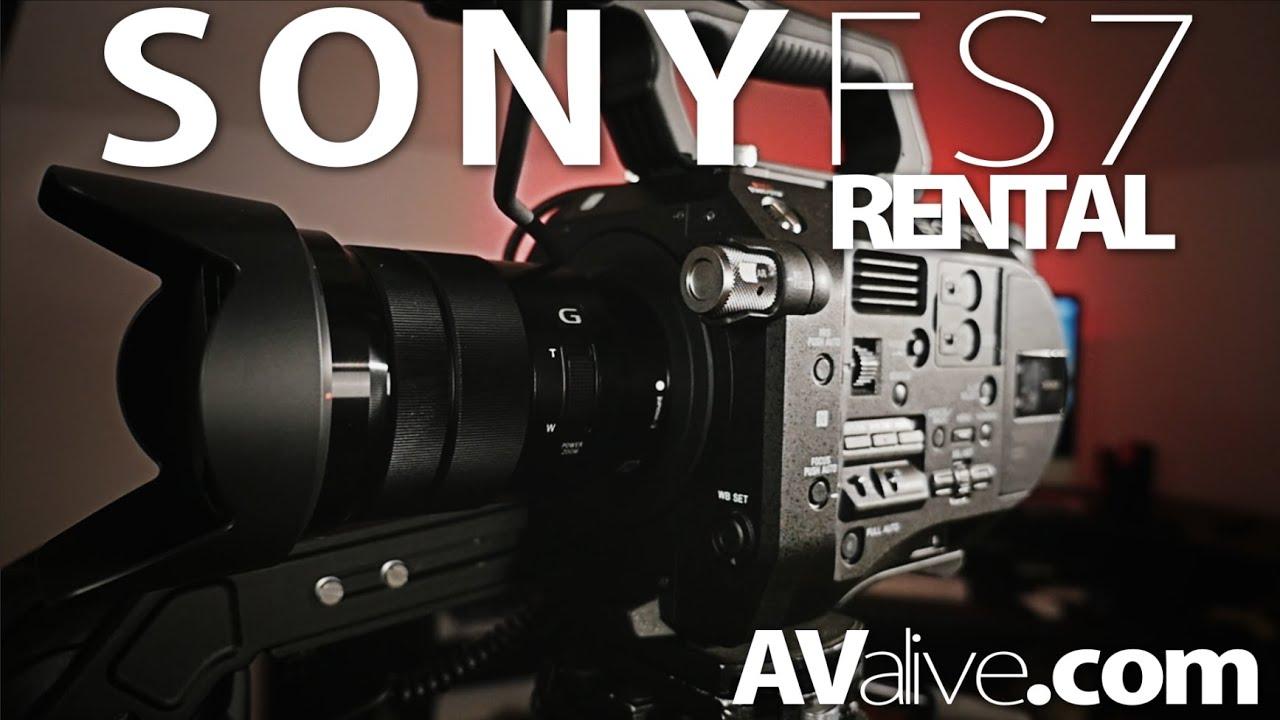 Sony PXW-FS7 4K Camera Rental Kit Demo Footage - YouTube