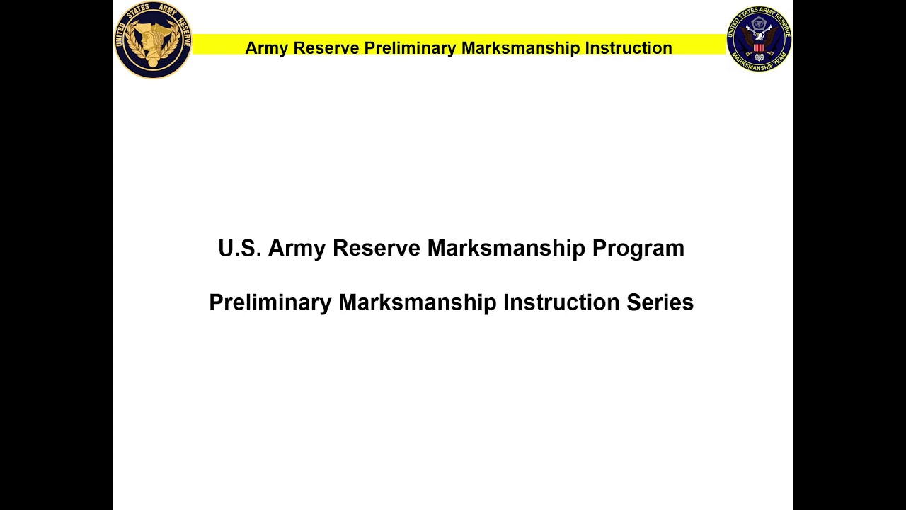 Preliminary Marksmanship Instruction and Evaluation (PMI&E), sample training materials and quizzes to help all Soldiers to better teach Army marksmanship training.