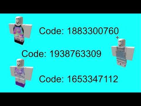 ROBLOX Clothes Codes | 2018!