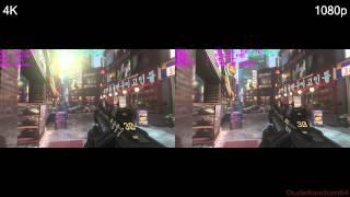 Call Of Duty Advanced Warfare 1080p Vs 4K FPS Comparison