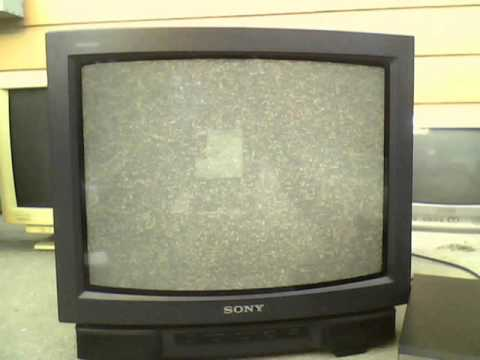 sony trinitron kv 19ts20 crt tv color problem youtube rh youtube com
