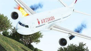 GTA 5 - Air Canada A330 Engine Failure Crash Landing