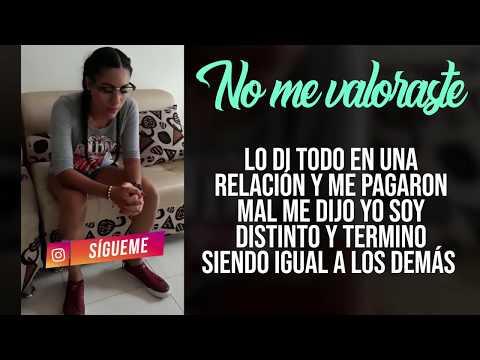 NO ME VALORASTE | LAURA QUINTERO | [Letra] Freestyle