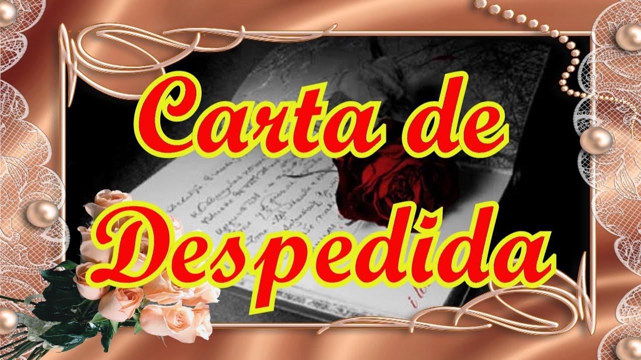 Carta de Despedida (hablado), Poemas de Amor Para Dedic
