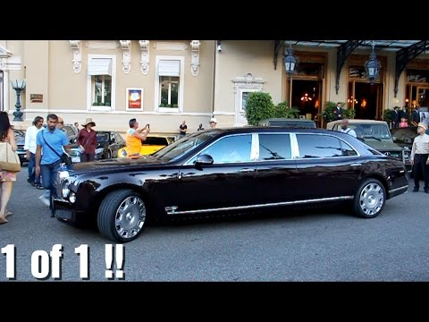 Qatar's Emir Car Convoy in Monaco! Unique Bentley Mulsanne