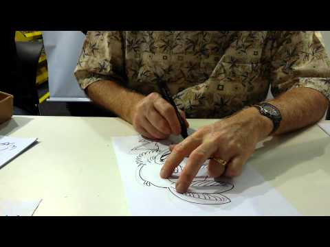Don Rosa desenhando o Panchito