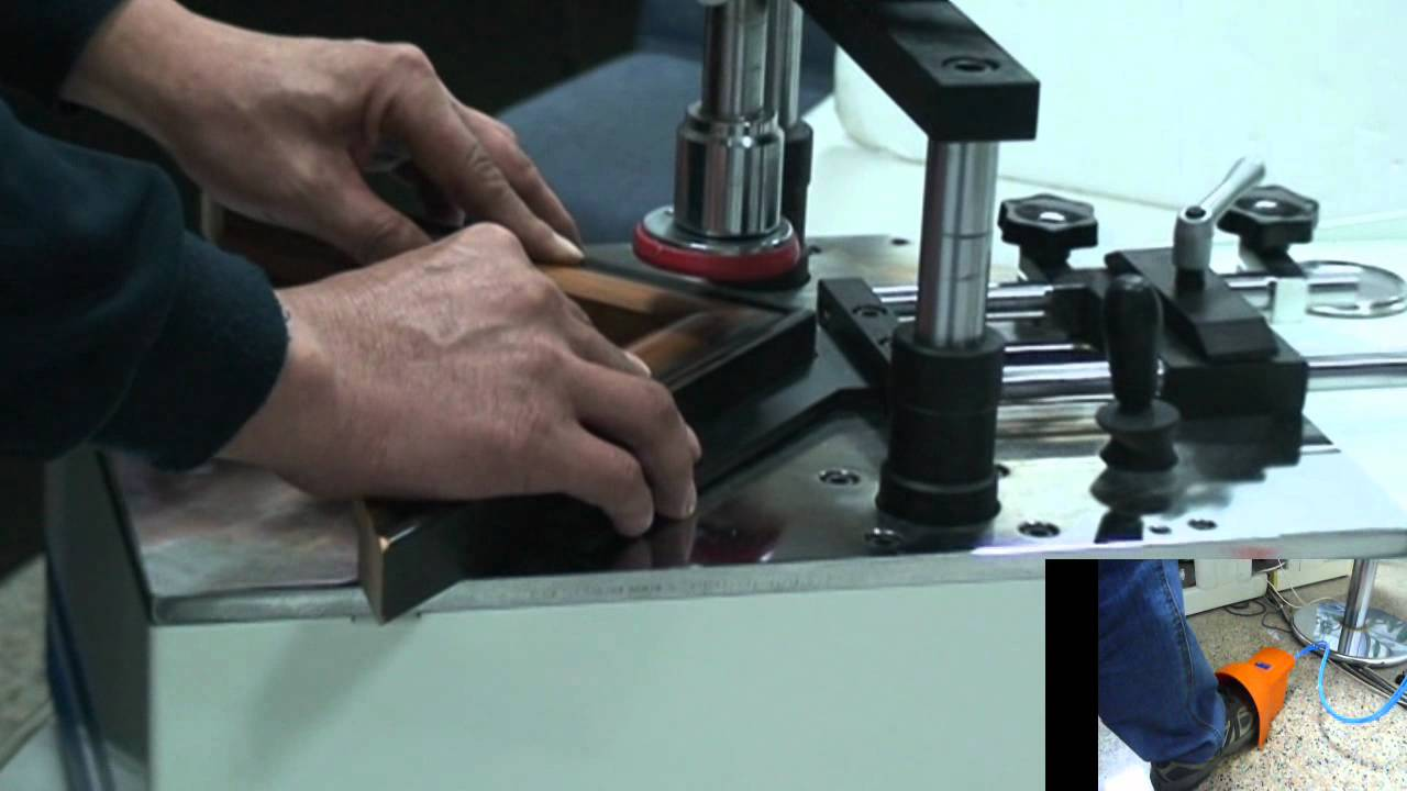 How To Used V Nailer Machine Made Picture Framewmv Youtube
