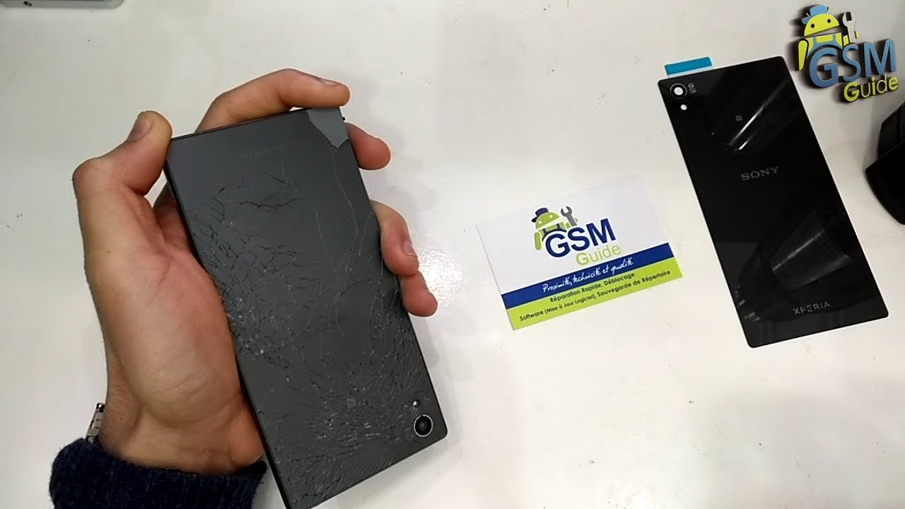 Sony Xperia Z5  back cover replacement tutorial Repair Replacement - GSM GUIDE