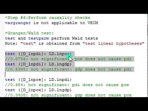 (Stata13): VECM And 3-Ways Causality Checks (3) #var #vecm #causality #granger #wald #Johansen