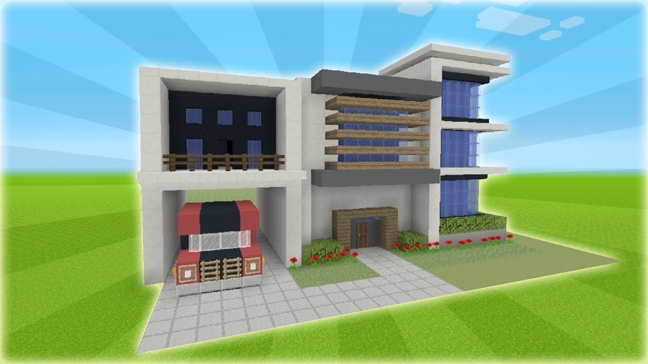 Minecraft Tutorial How To Make A Modern House 5 YouTube