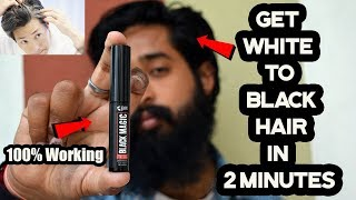 Get white to Black hair in 2 Minutes Guarantee