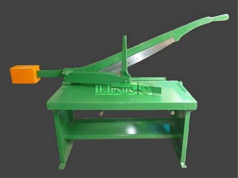 Fabricacion cizalla guillotina cortadora manual para for Cizalla manual para metal