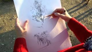 027 Как Научиться Рисовать Деревья Правильно Видеоурок Екатерина и Артур Крюковы