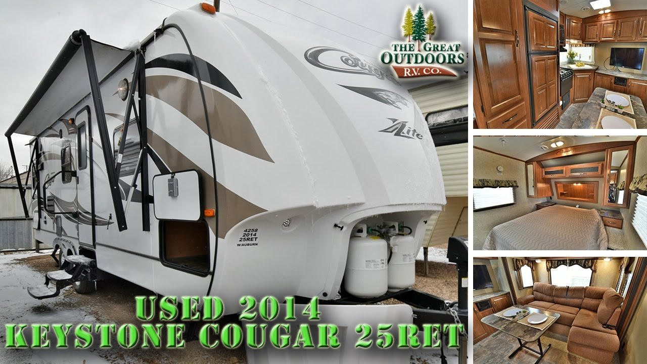 USED 2014 KEYSTONE COUGAR 25RET TRAVEL TRAILERS U863