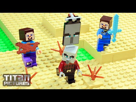 Lego Minecraft - Clan Wars | Villager Vs Pillager | Episode 3 - The Uprising