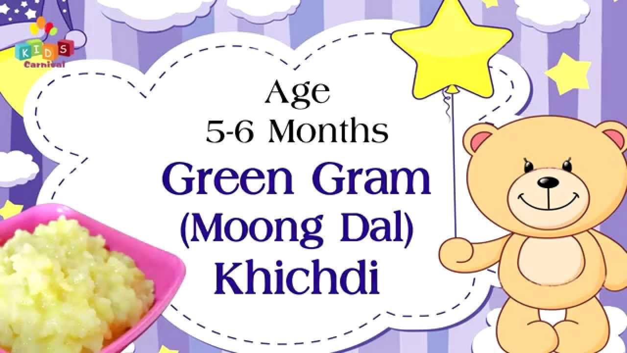 Tasty moong dal khichdi for months old babies food recipe kids also rh youtube