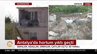 Antalya'daki hortum yıktı geçti