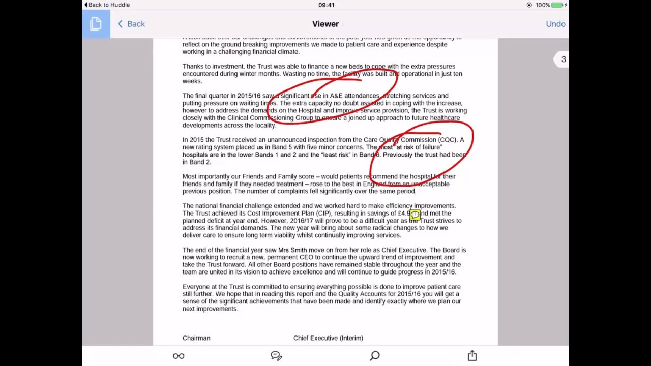 How To Annotate A Pdf Stored In Huddle Using Your Ipad