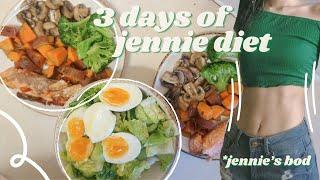 I Eat Like BLACKPINK JENNIE for 3 Days *JENNIE DIET*