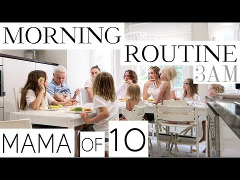 MY MORNING ROUTINE with 10 CHILDREN ( PART 3/3 ) thumbnail