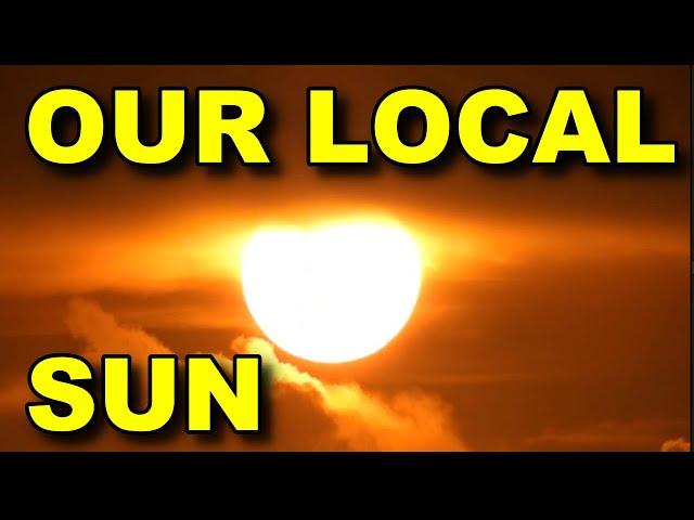 Our local sun over a FLAT EARTH