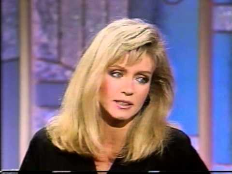 "Donna Mills on the ""Arsenio Hall Show"" in 1989"