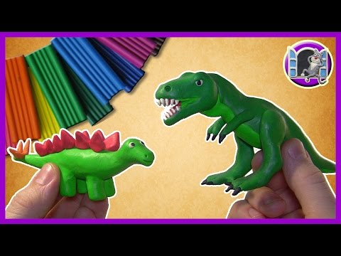 ДИНОЗАВРЫ ИЗ ПЛАСТИЛИНА | Лепим тиранозавра | DINOSAUR T-REX OF PLASTICINE