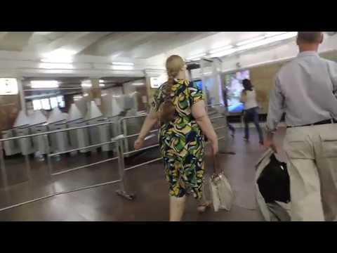 Москва Метро Красные Ворота: вестибюль и вход -  9 июня 2014