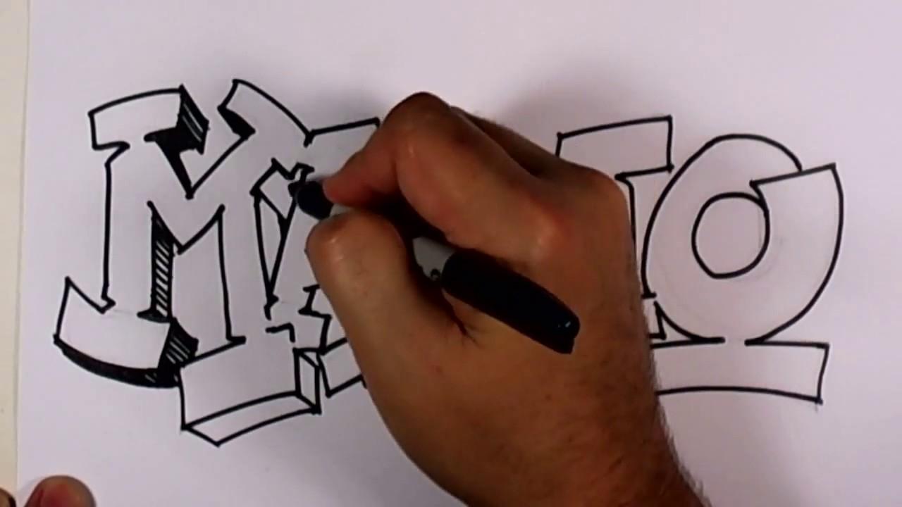 Graffiti Mario Name Design