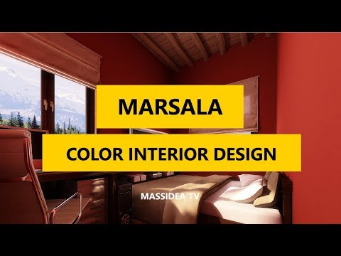 45+ Creative Pantone Marsala Color interior Design Ideas 2018