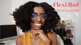 Flexi Rod Set on Blown Out 4c Natural Hair