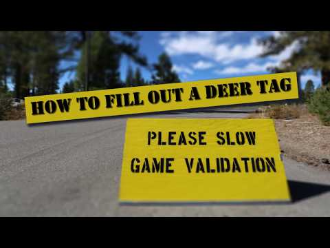 How To Fill Out A Deer Tag