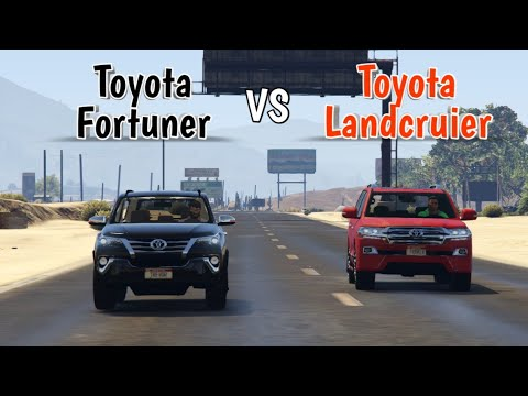 GTA 5 |  Toyota Landcruiser V8 vs Toyota For tuner | Drag Ra