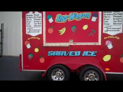 Southern Snow Wagon Shaved Ice Trailer - Tag #20772