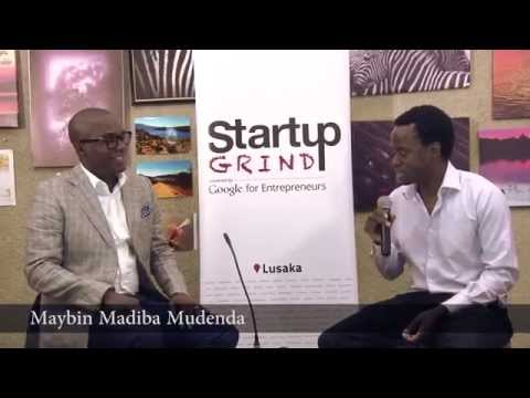 Maybin Mudenda (African Grey Insurance) at Startup Grind Lus